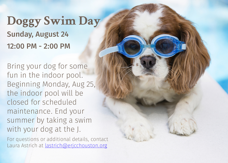 Doggy Swim Day - Sun, Aug 24, 12pm-2pm