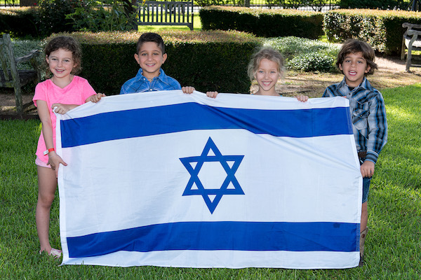 Kids with Flag