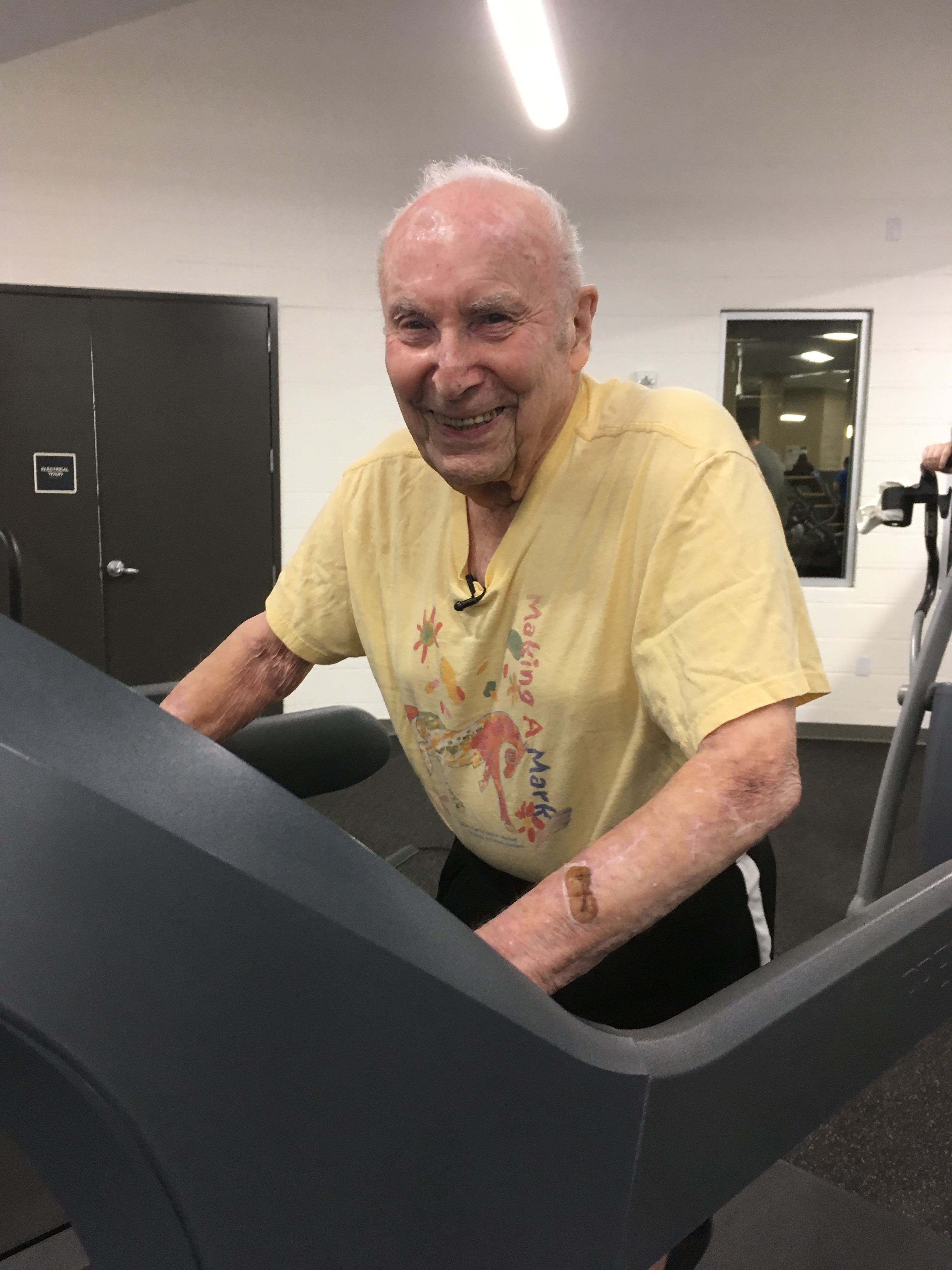 Dr. Hurwitz Working Out