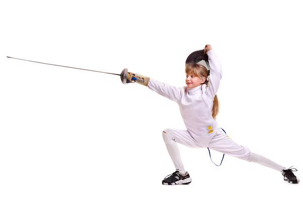 Young Girl Fencing